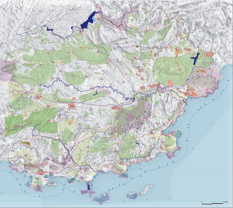 carte décisionnelle des paysages du Var